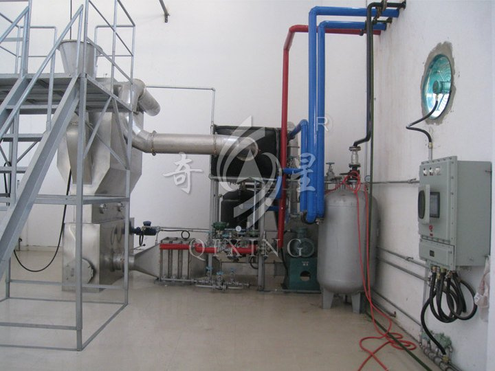Nitrogen Closed Cycle Intelligent Fluidized Continuous Drying And LOW-Boiling Solvents Recovery Unit